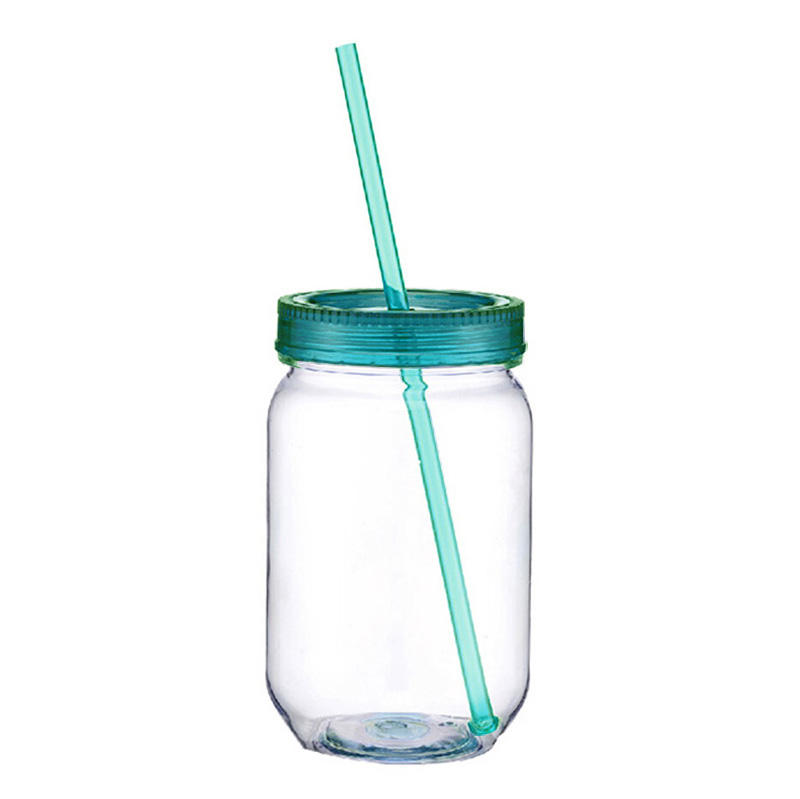 In Stock Wal-mart audit approved factory cold drink using 26oz single wall acrylic plastic mason jar with plastic lid