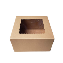 New Height White Art Paper PVC PET Kraft Brown Bakery Pie Cake Packaging Paper Food Box With Clear Window