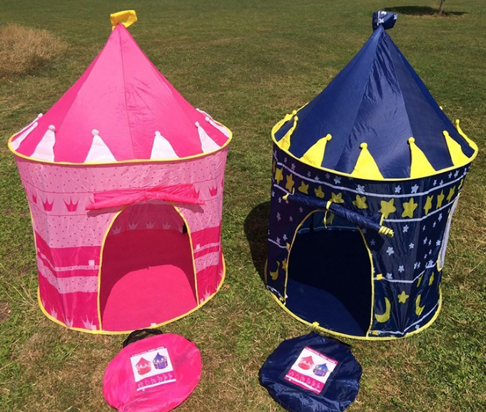 Castle Design Pink Color Round Shape Kid Play Tent Diy Kids Tent