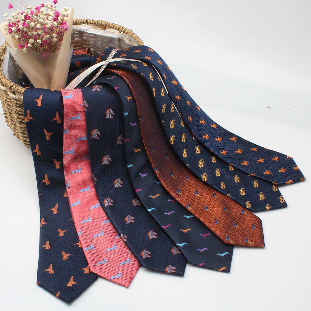 Custom made silk jacquard woven necktie novelty tie