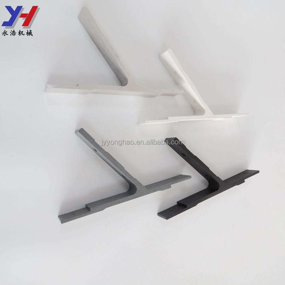 OEM ODM Custom Fabrication of Powder Coated Aluminum Glass Holder for Curtain Wall