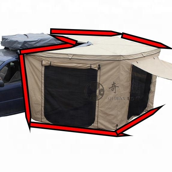Manufacturer Best Price Qidian Car Side Fox Awning Tents Batwing Tents With Portable House