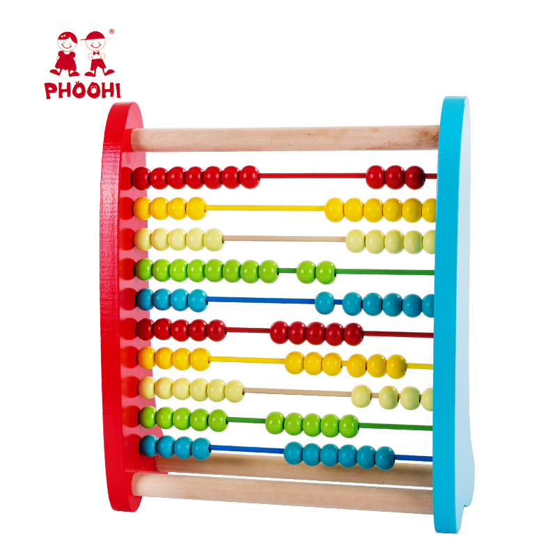 Wood Wooden Abacus Children Early Educational Learning Montessori Baby Wooden Bead Abacus Toy For Kids