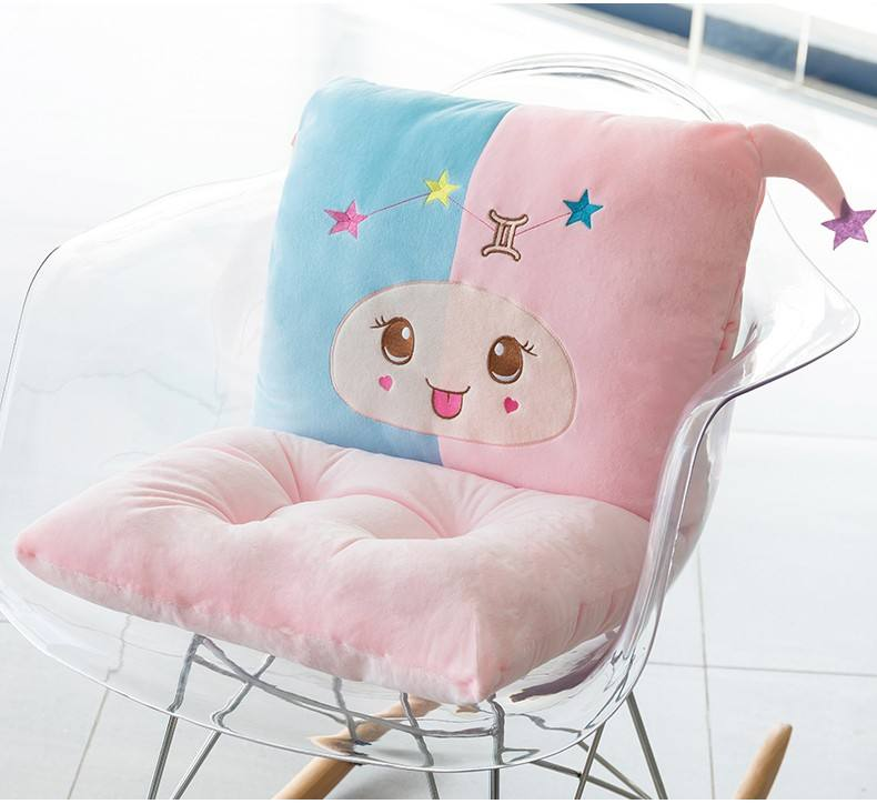 Cartoon comfortable memory foam pillow/seat cushion and waist cushion