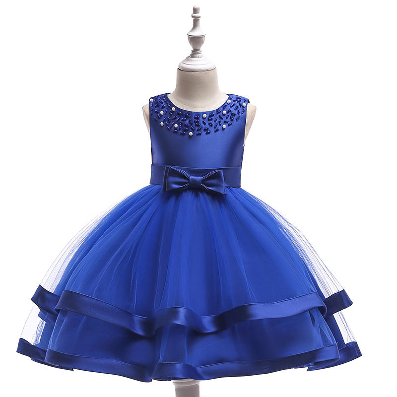 Hot Selling Custom Made African Style Flower Girls Wedding Party Tulle Prom Dress L5017
