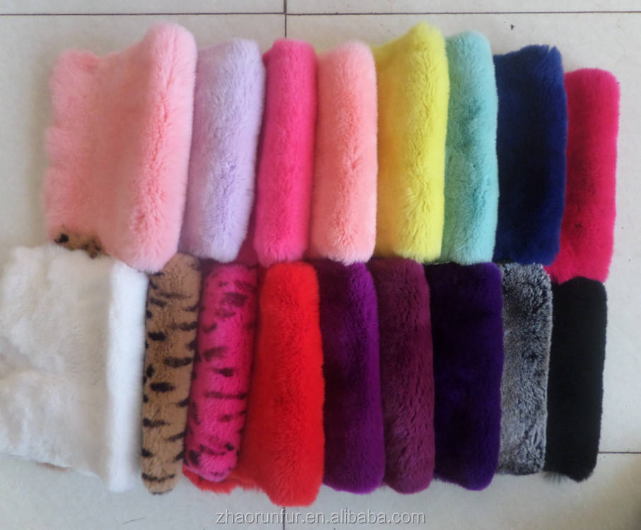 100% Natural Rex Rabbit Fur Skin Dyed Rex Rabbit Fur Pelt