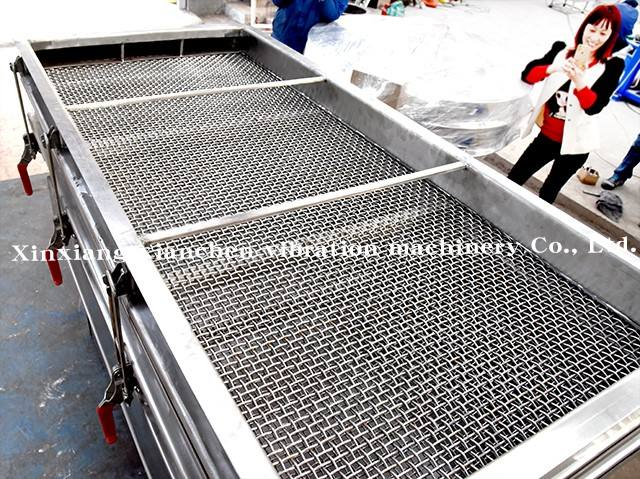 Linear Vibrating Screen CE Stainless Steel Straight Linear Vibrating Screen Chemical Machinery Equipment Linear Vibration Screen