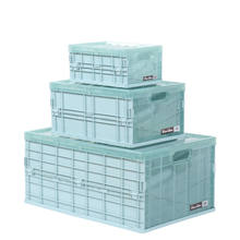 Home collapsible foldable plastic storage box with lids