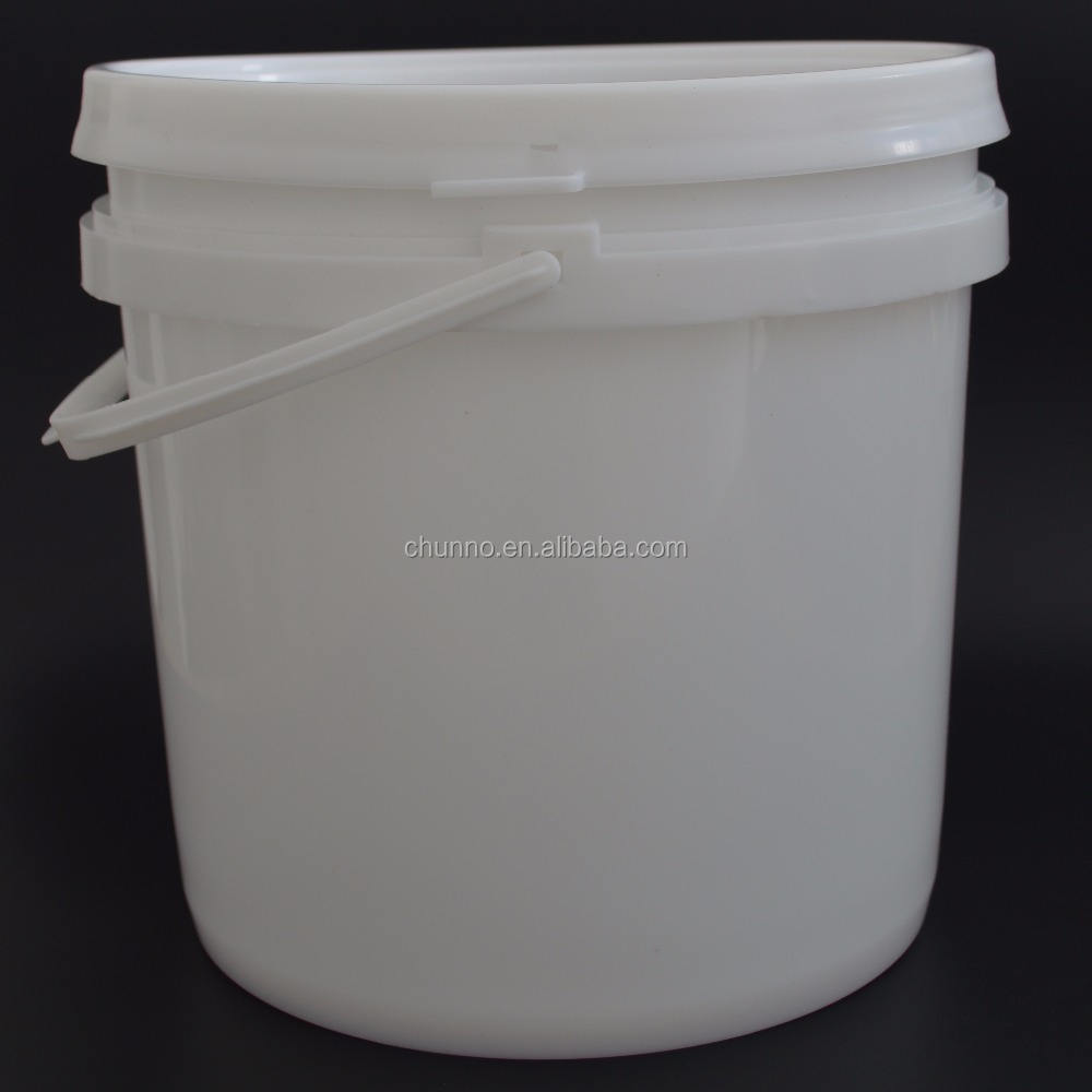 Food grade bucket tool PP material latex paint plastic packing bucket with good sealing cap