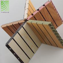 Tianjie Acoustic panels Factory Grooved fireproof mdf wood fiber wood acoustic panel