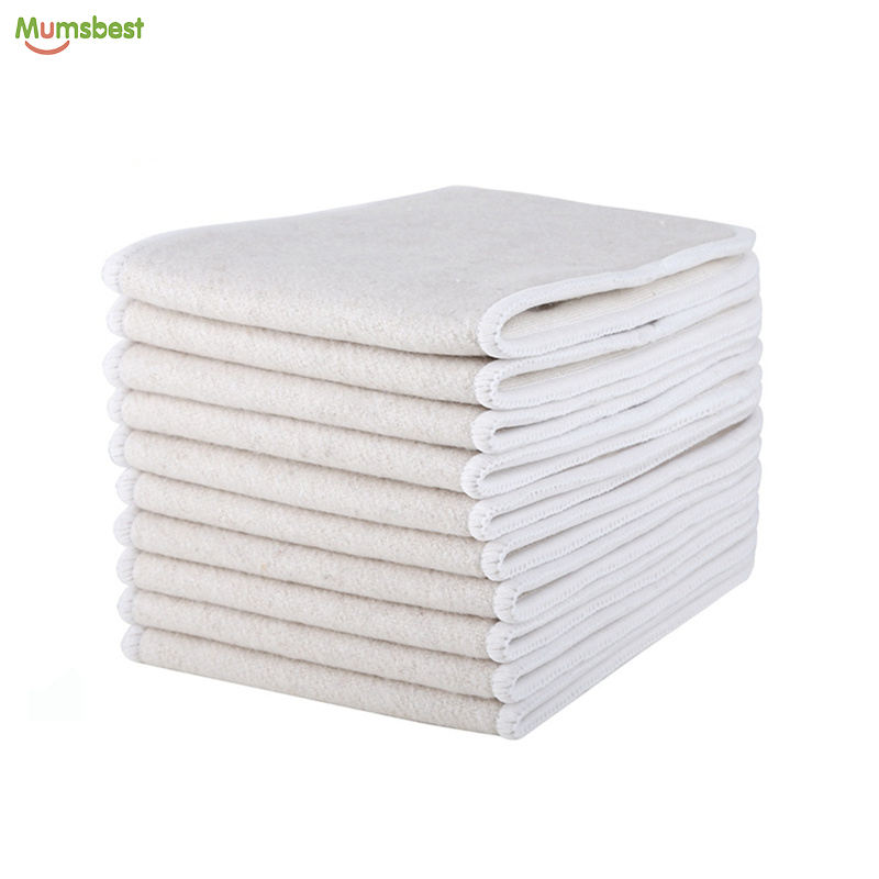 Organic Baby Cloth Diaper Hemp Cotton Inserts For Pocket Diaper Nappies Sample Free