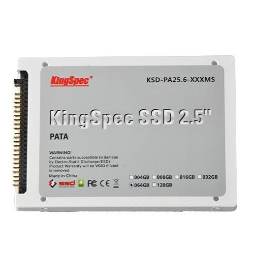 KingSpec PATA IDE 44Pin 2.5 64GB MLC SSD KSD-PA25.6-064MS untuk Desktop Laptop
