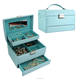 Chinese vintage style unique pattern jewelry storage box open automatically in multiple colour