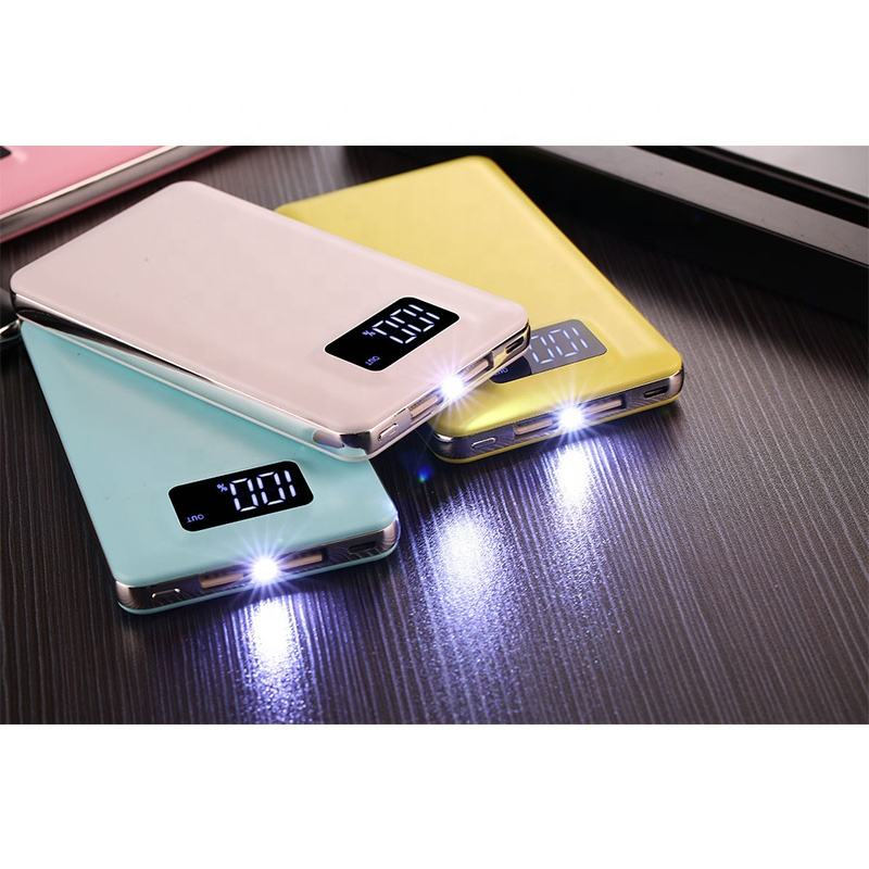 8000 mah Led Zaklamp Power Bank LED Digital Power Display Polymeer Power Bank