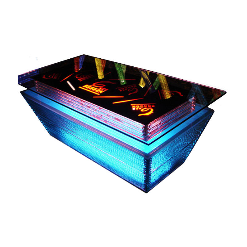 Excellent quality night club cafe glass top led light bar table