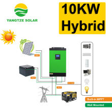 10kw wind solar hybrid power home solar electricity generation system