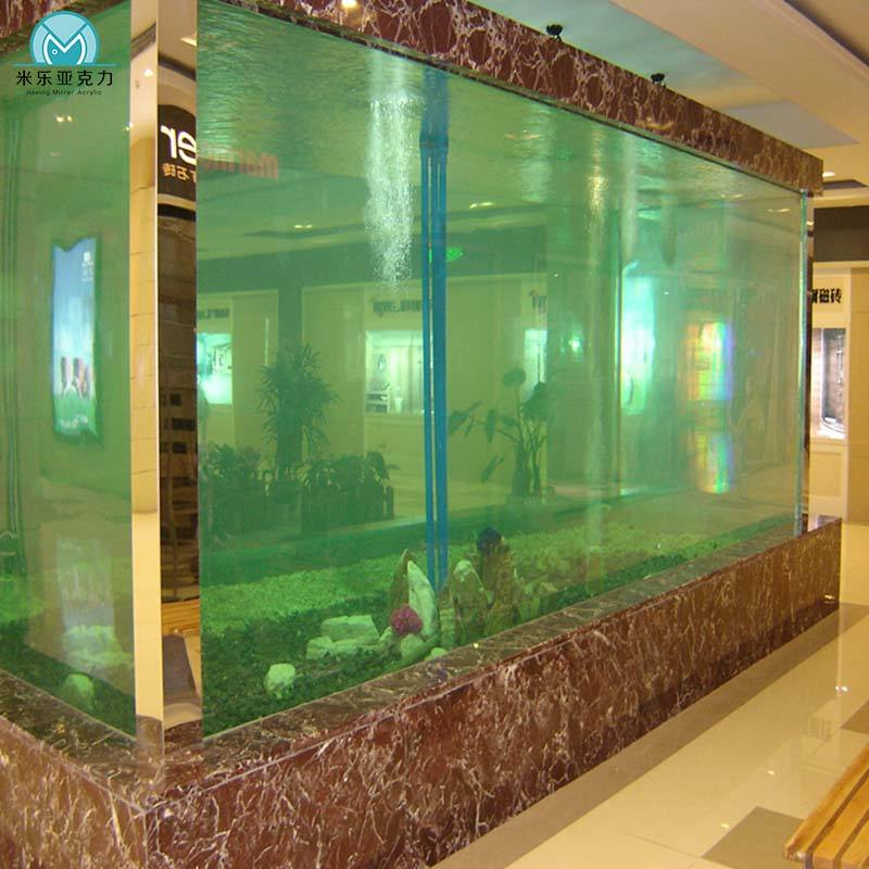 Acrylic marine salt water fresh water fish home tank aquarium tank for ornamental fish, with sump