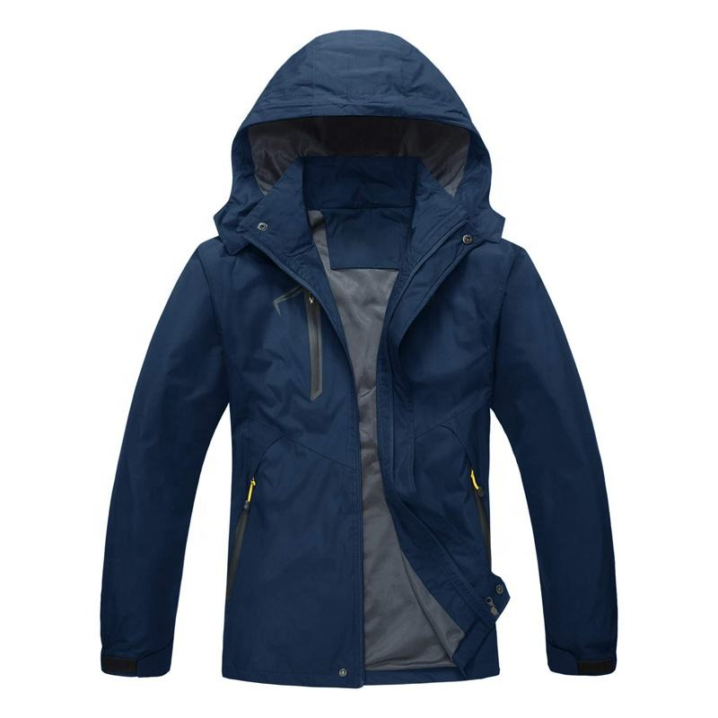 Men's Waterproof Lightweight Outdoor Jacket Windproof Mountain Rain Coat with Hood for Men