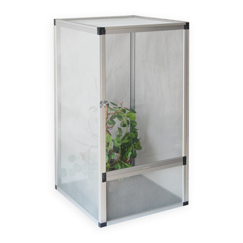 XL size white color Full Mesh pet products aluminum screen reptile cage for turtles