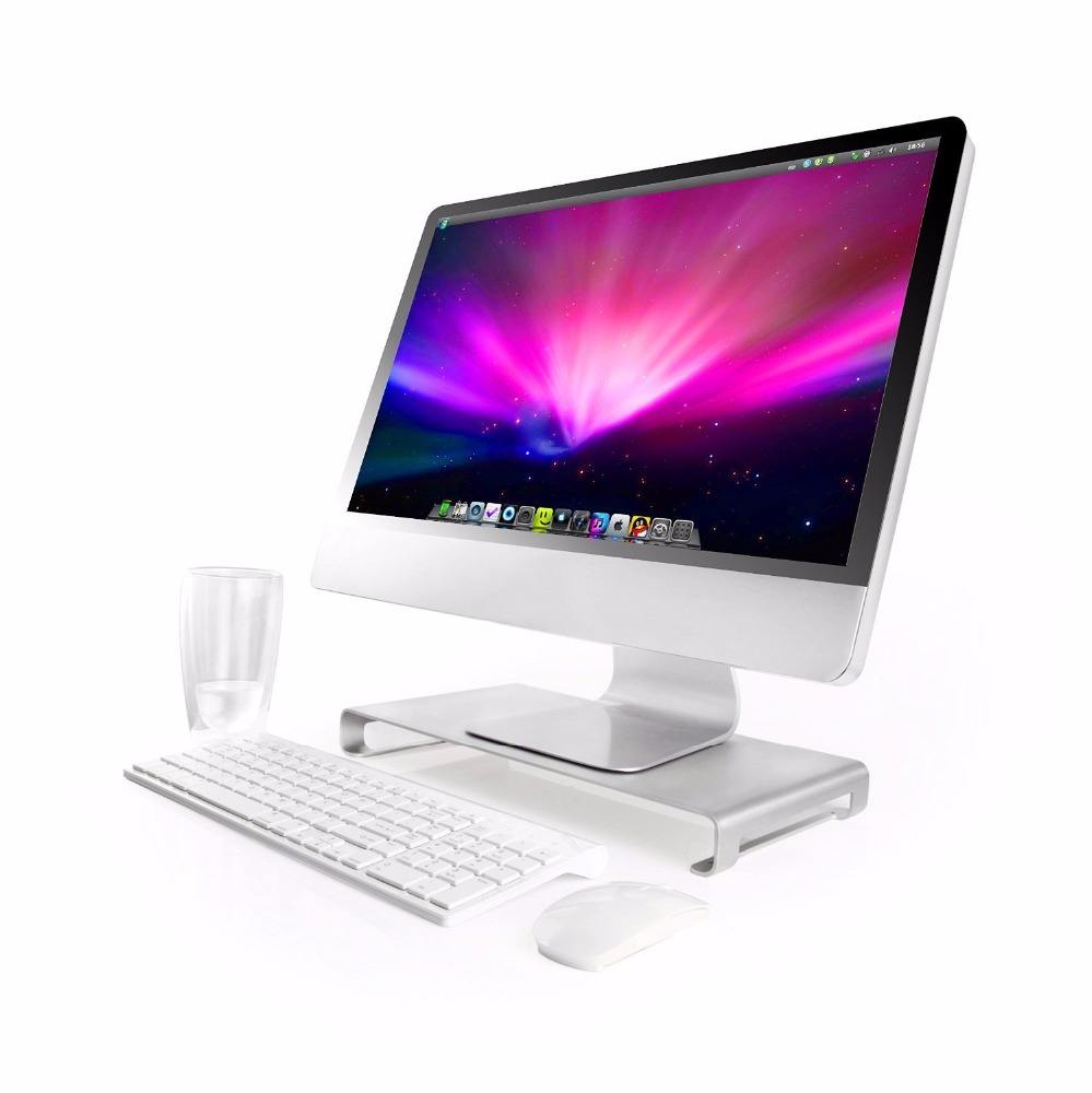 Indah Single-Piece Aluminium Unibody Konstruksi Monitor Stand Laptop Dukungan 21-27 Inch Mac