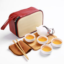 Ceramic Travel Tea Set Portable Porcelain Drinkware Tea Sets With Teapot Ceramic Chinese Kung Fu Tea Pot Set Ceramic