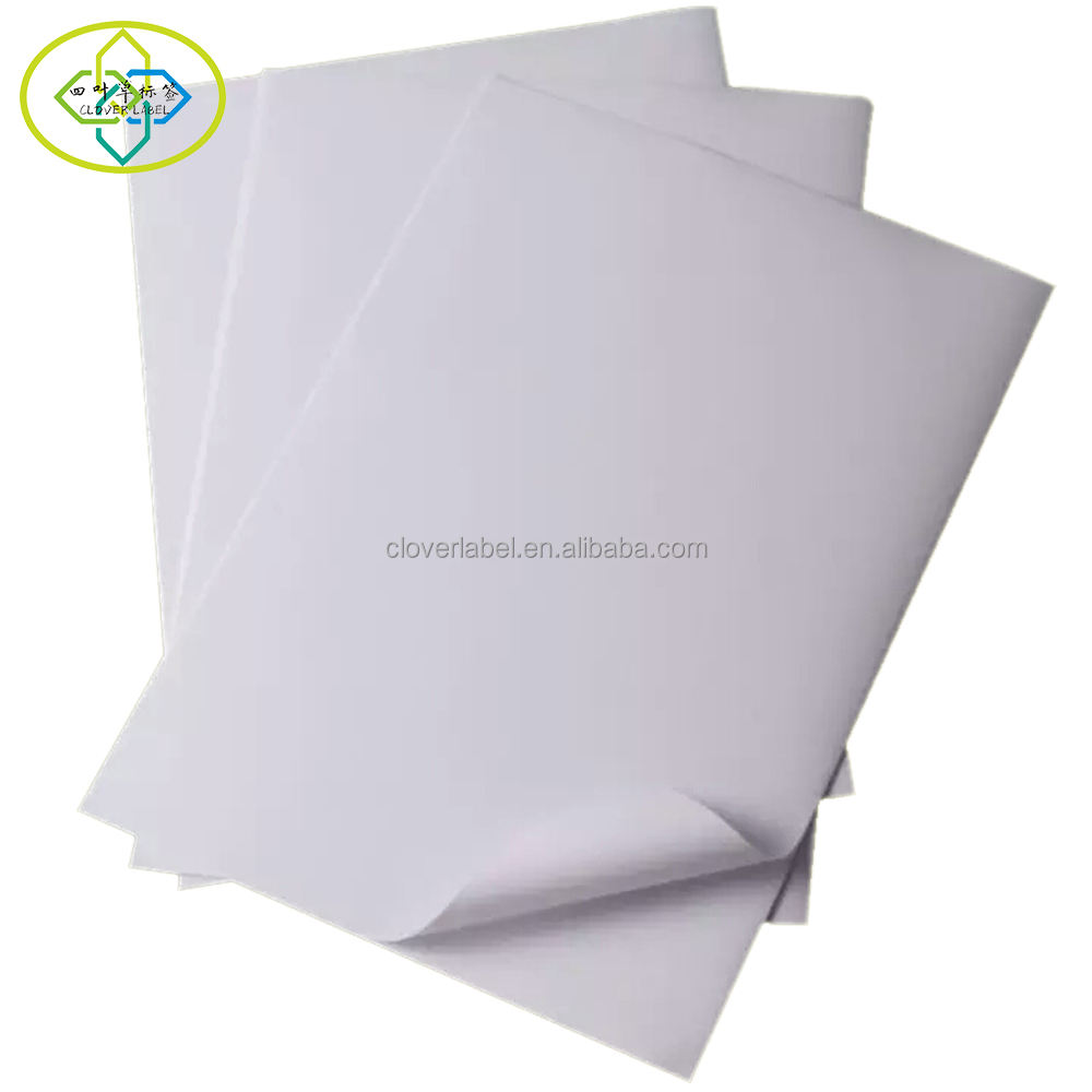 Blank Self Adhesive PP synthetic paper a4 A3 size sticker label sheet with matte or gloss for laser printer and inkjet printer