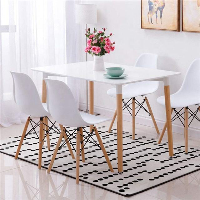 Office Lounge Dining Kitchen Wood Dining Table with Chairs