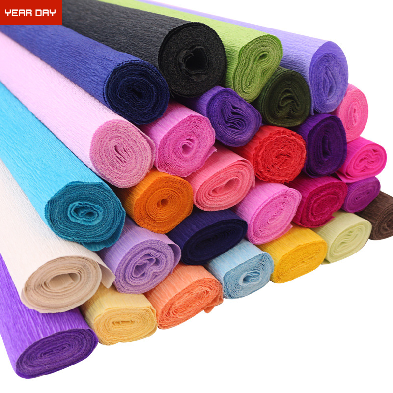 Wholesale Colorful Thick Crepe Paper Rolls for handwork