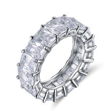 RINNTIN OR146 Women Accessories Cubic Zirconia Diamond Eternity Rings