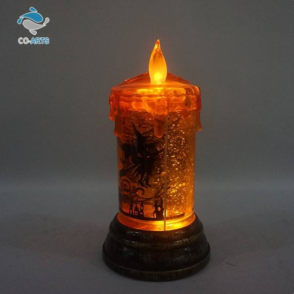 Professional design new arrival decoration flash glitter candle light