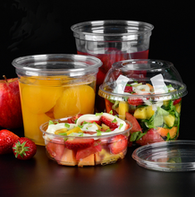 Disposable 8oz 12oz 16oz 24oz 32oz Plastic Deli Container Cup With Lid  clear PET Plastic  deli food container