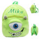 Finely Processed Plush Bag Cartoon Animal Zipper Backpack Monster.Inc Monster University Mike