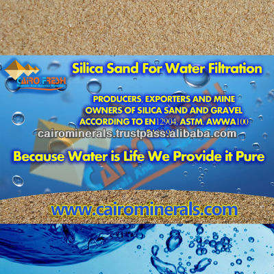 [ Sand And ] Well Processed Silica Sand Water Filtration 35 Mesh /18 Mesh Exceeds EN12904 And AWWA Standard
