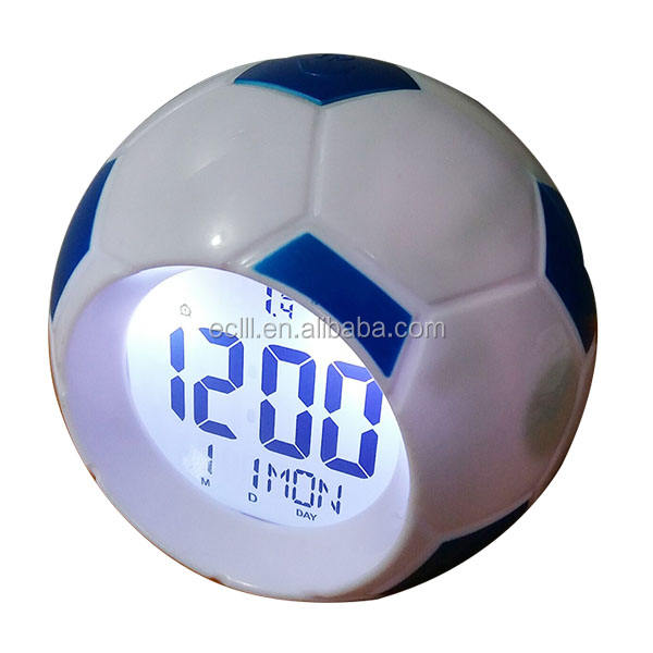 Football design digital talking alarm clock with calendar function