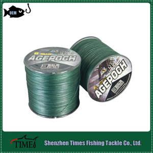 Capítulo 8 verde/gris/multicolores trenzado dyneema línea de la pesca