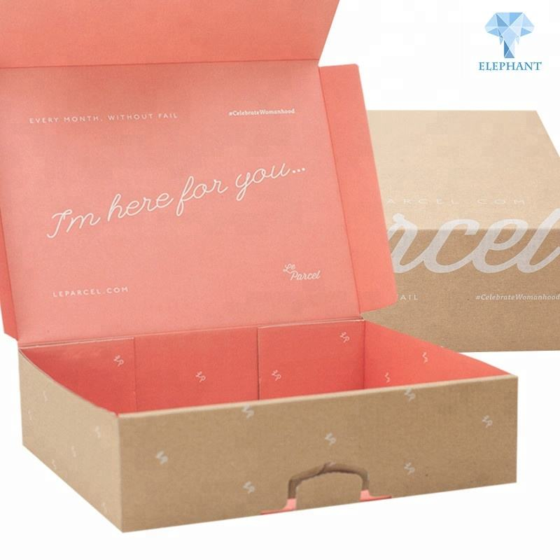 Custom fancy design attractive price collapsible corrugated clothing packaging box