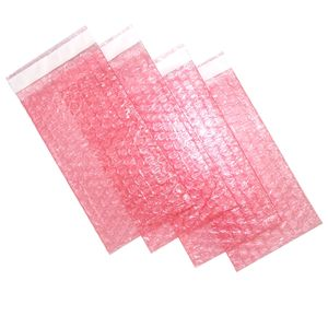 Wholesale Clear Pink Wrap Transparent Bubble Envelopes PE Mailer Custom Bubble Bags