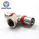Green valve manufacturer Press fittings Brass fittings for PEX-AL-PEX pipe Straight coupling