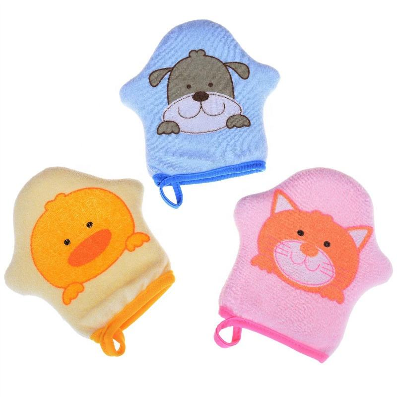 Cartoon Super Soft Cotton Baby Sponge Children Rub Rubbing Towel Ball Bath Gloves