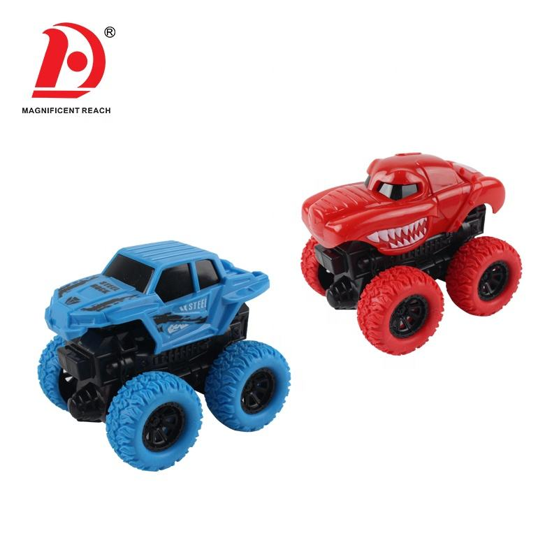HUADA 2020 2 Pieces China Four-wheel Drive Inertial Small Friction Powered Cars Set for Kids