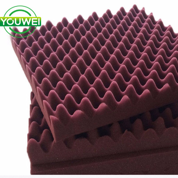 wave acoustic sound proofing foam fireproof sponge