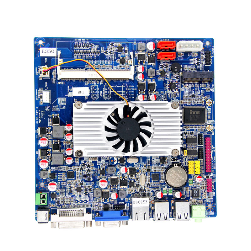 ow power Industrial micro pc board with Onboard AMD E-350/E-450 cpu Hudson M1 A50M chipset for Thin Client