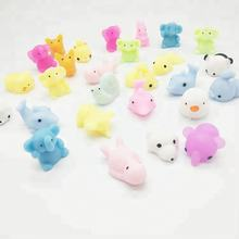 Mini Plastic Toy Into Capsule For Vending Machine TPR Squishy Mochi Kawaii Animal