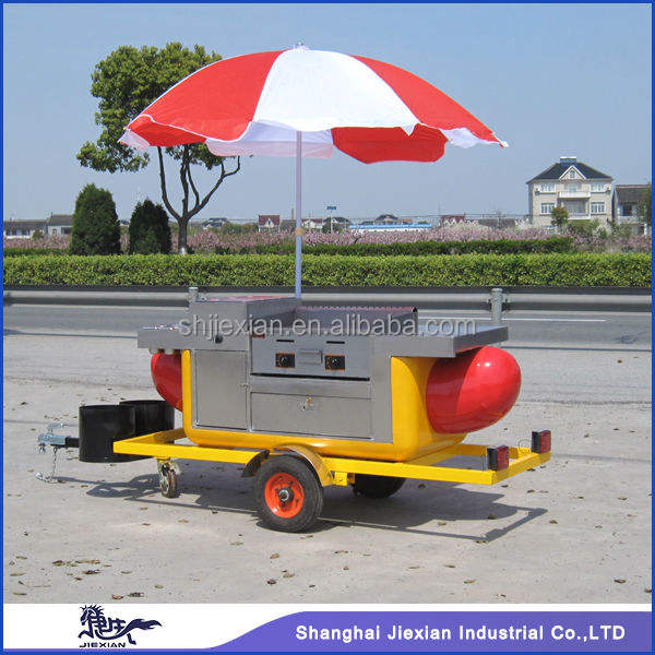 2013 HOT SALE Street Mobile Fast food Cart with hot dog shape