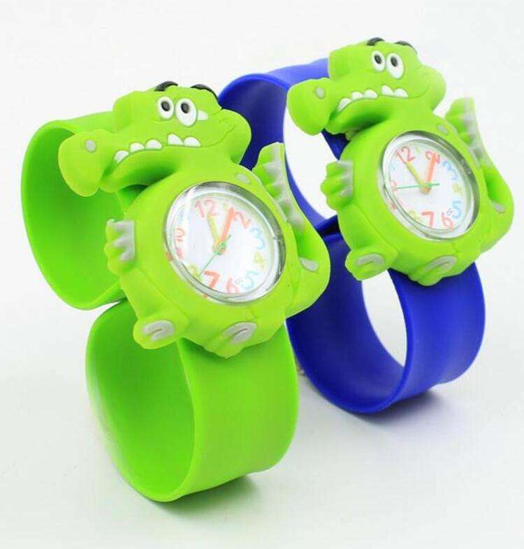 Children Slap Watch Cute Animal Cartoon Quartz Analog Wristwatches Candy Color Silicone Sport Watch Kids Student Gift Watches