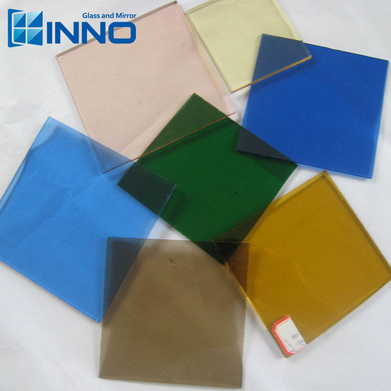 5Mm Customized Float <span class=keywords><strong>Màu</strong></span> Tempered Glass Xây Dựng Blue/Green Glass Tint