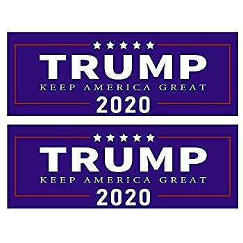 Ready To Ship Trump 2020 Keep America Great PVC Stickers with Free Shipping
