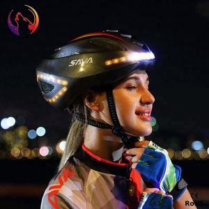 Casco Led de bicicleta de seguridad recargable al por mayor