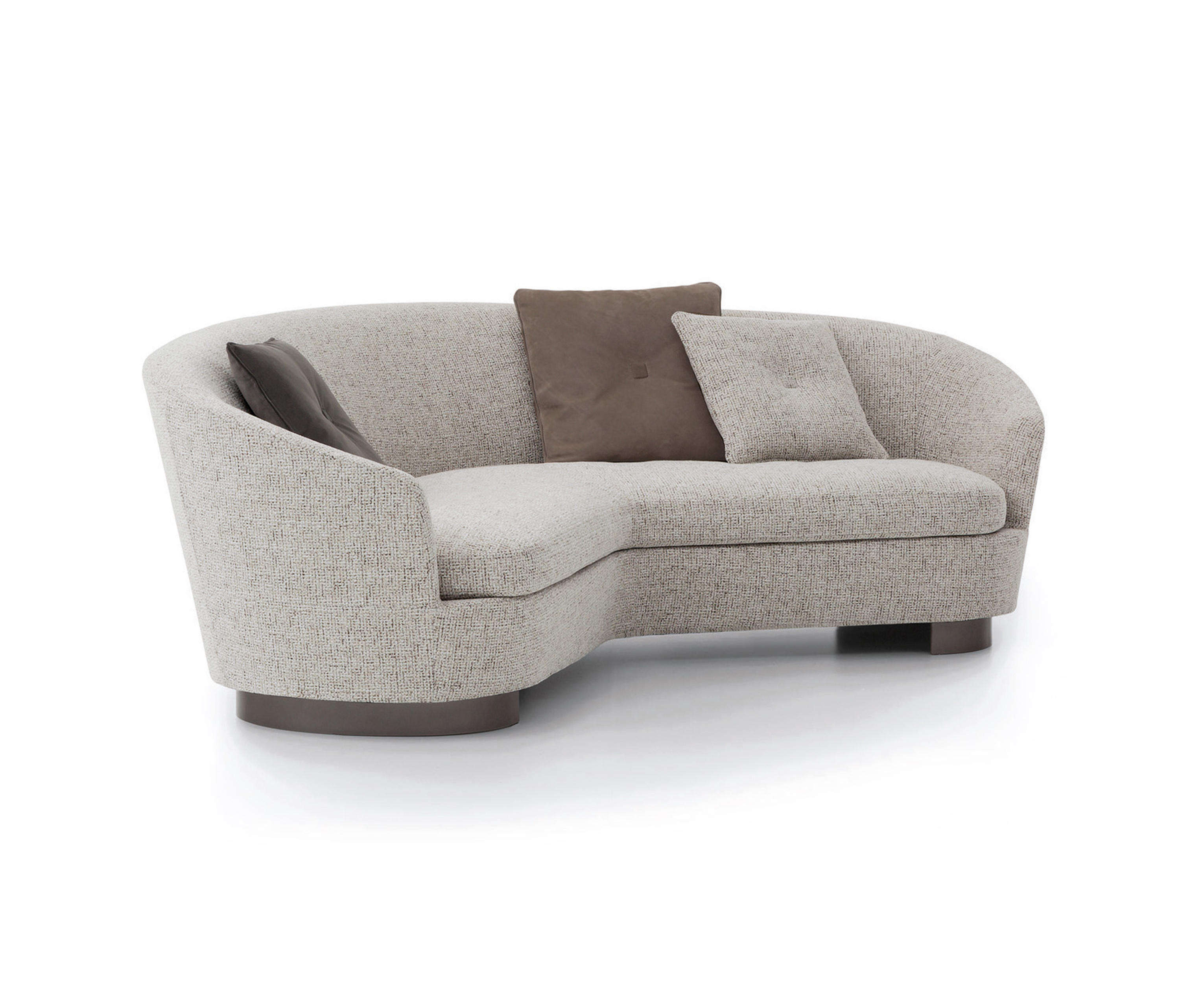 Curved 3 seater hotel lounge sofa hotel furniture Italy design Hotel reception sofa