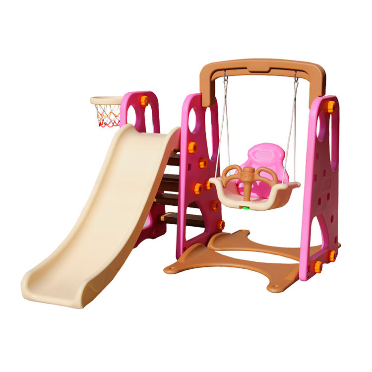Cheap Preschool Multi Funtion Kindergarten 8 in 1 Cute Toy Kids Mini Baby Toddler Plastic Slide With Baby Swing